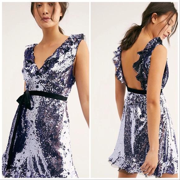 52b661004a7d Free People Dresses | Sequins Siren Mini Dress In Black | Poshmark